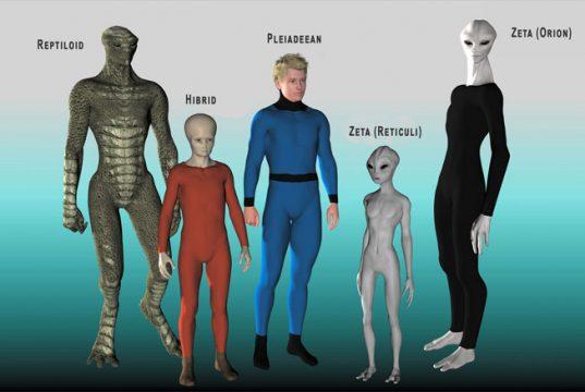 Speciile extraterestre umanoide